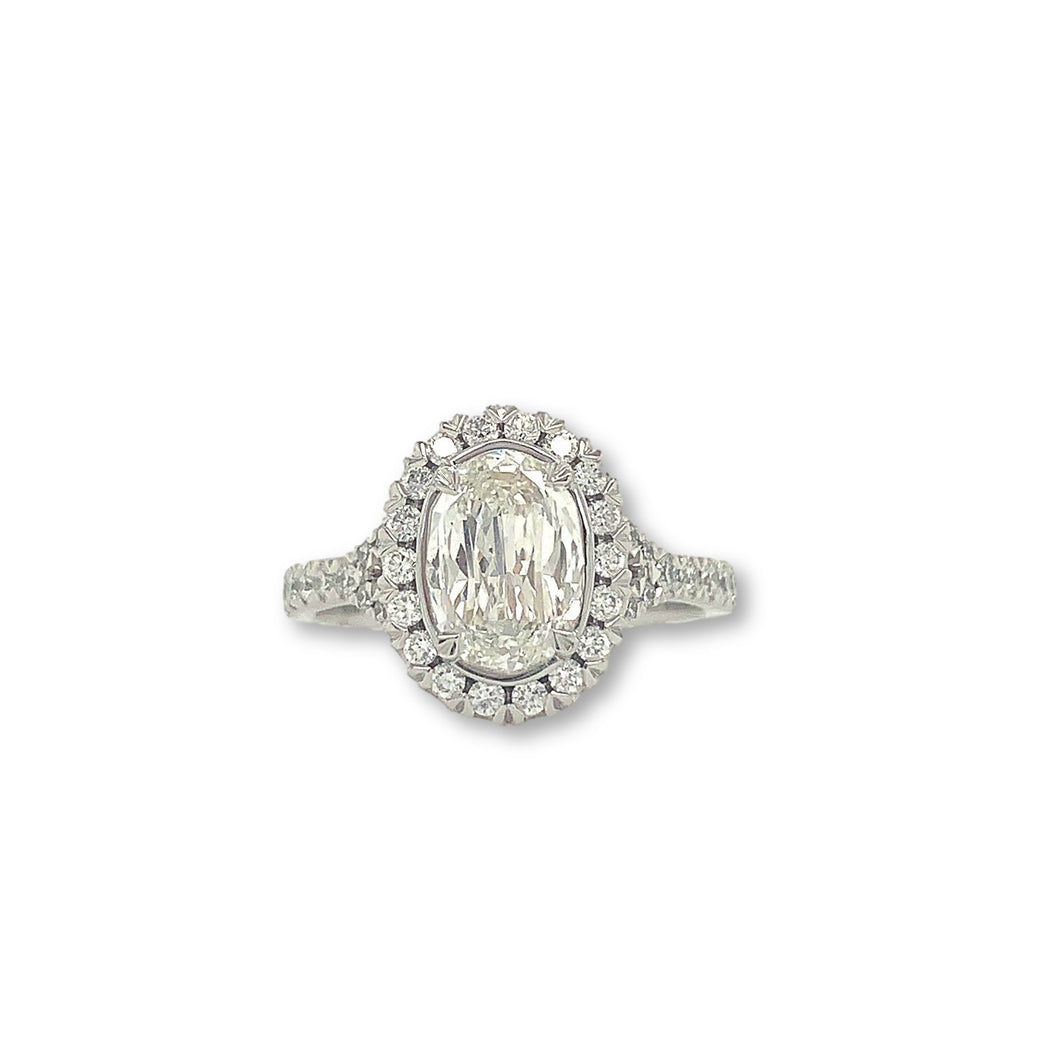 Christopher Designs L' Amour Crisscut Oval 1.07ct Diamond Ring GIA Certified | Blacy's Fine Jewelers
