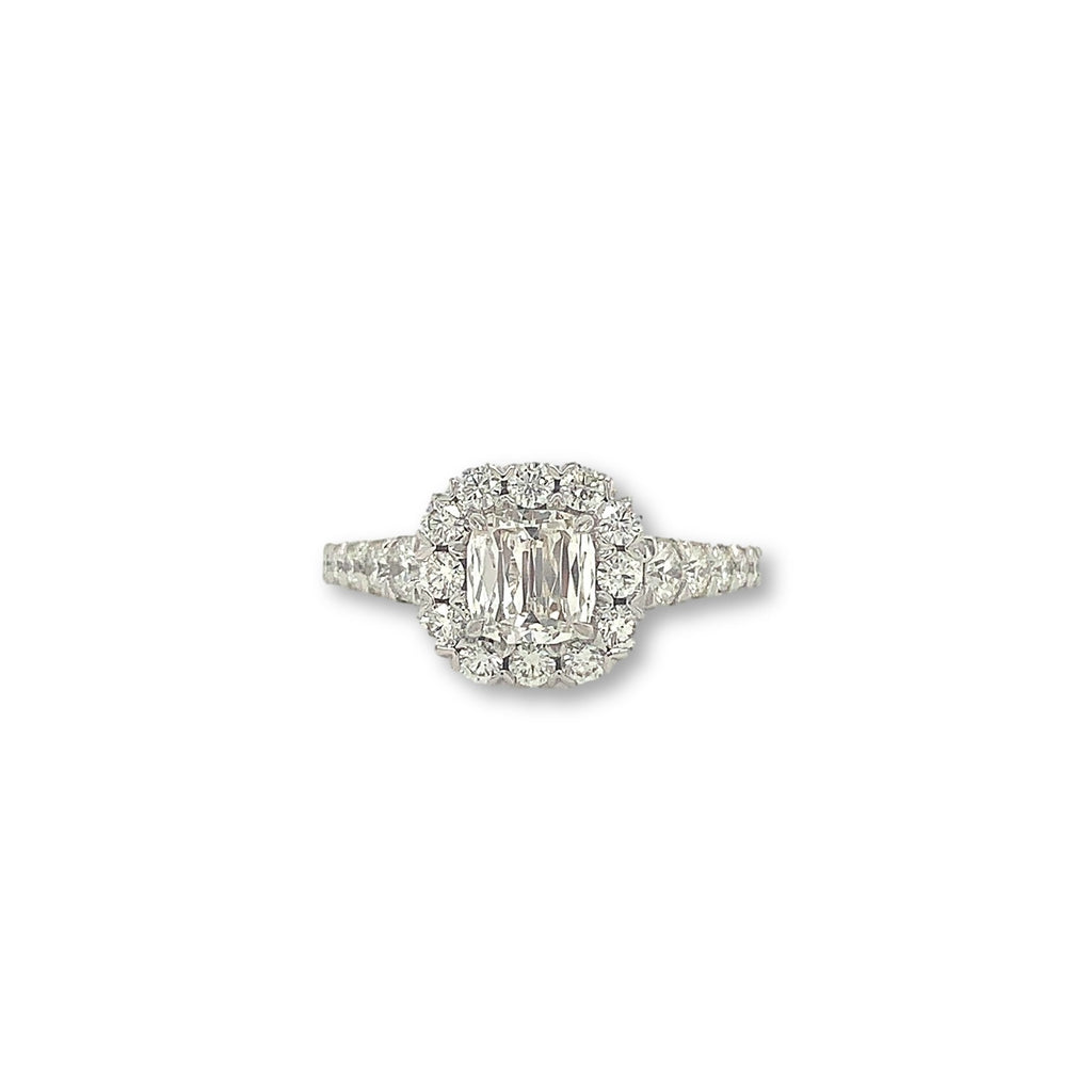 Christopher Designs Cushion Cut L' Amour Diamond Ring, 18K White Gold 0.71 ctw | Blacy's Fine Jewelers