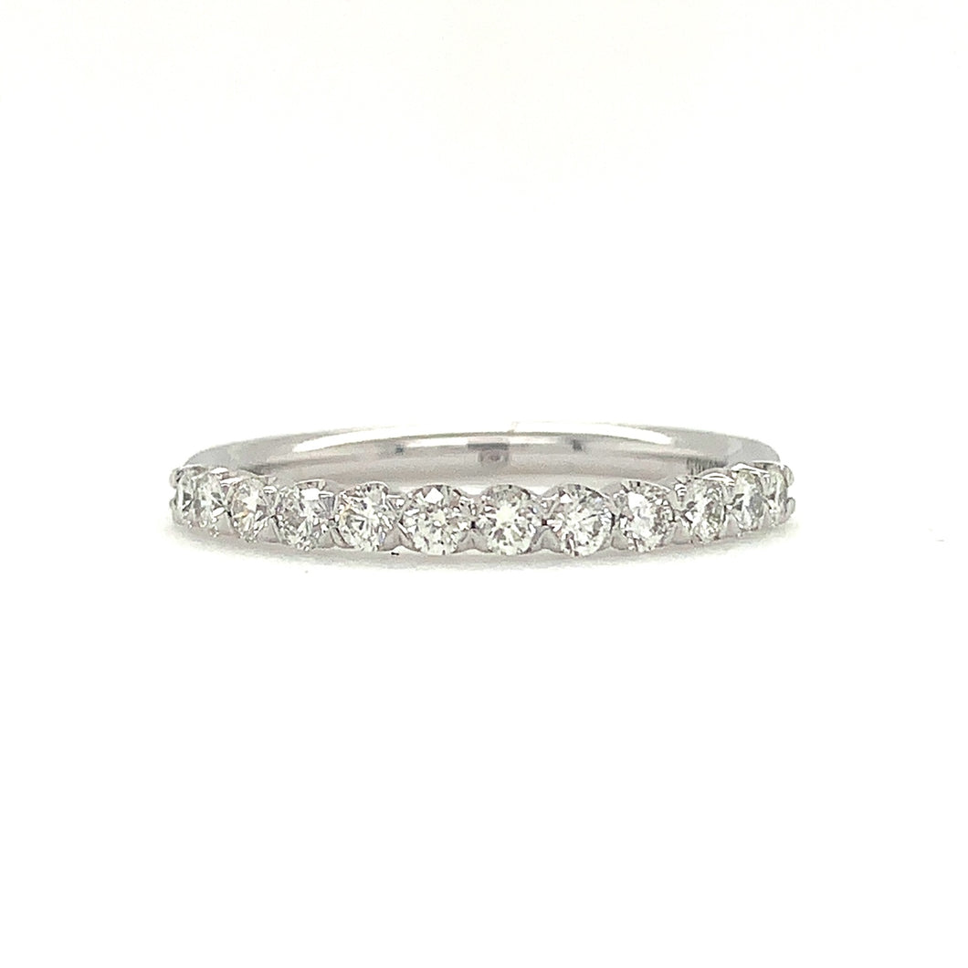 Christopher Designs Half Eternity Band, 18K White Gold, 12 Diamonds 0.43t.w. | Blacy's Fine Jewelers
