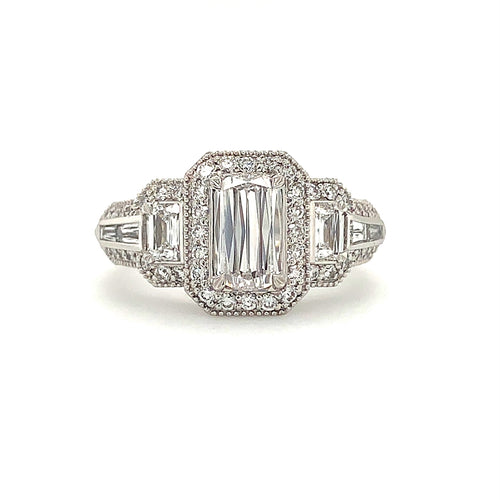 0.63ct Christopher Designs L' Amour Diamond Ring, 18K W.G. | Blacy's Fine Jewelers