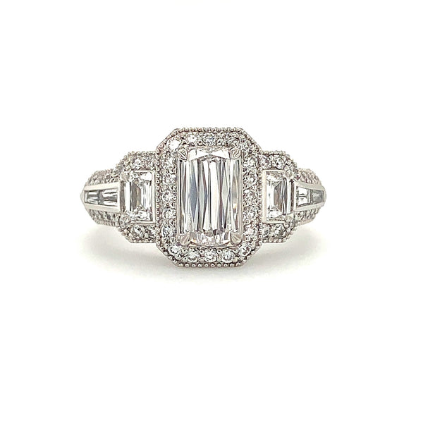 Christopher Designs L' Amour Diamond Ring 1.63 ctw 18K White Gold | Blacy's Fine Jewelers