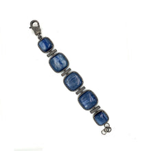 Oxidized Sterling Silver Kyanite And Diamonds Bracelet | Blacy's Fine Jewelers