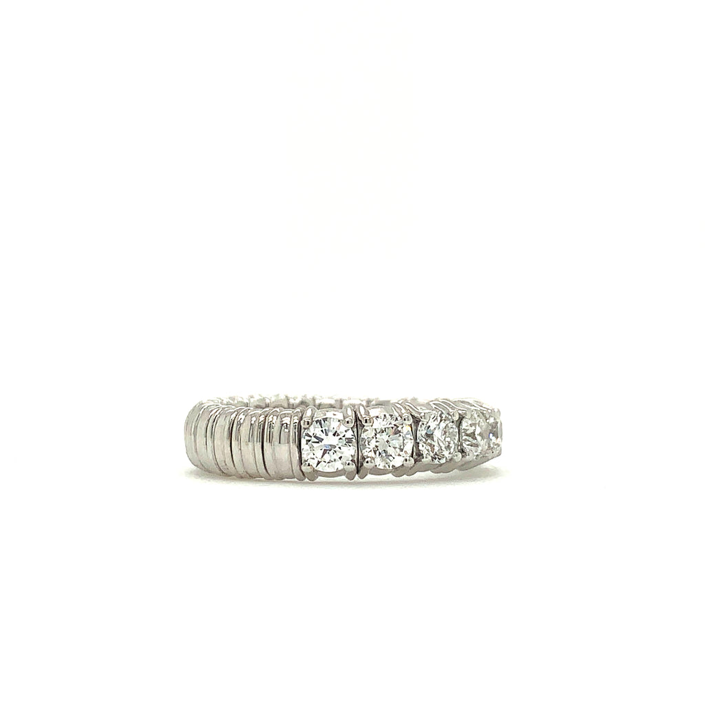18K White Gold Zydo Italy Eternity Stretch Diamond 1.71ctw Band | Blacy's Fine Jewelers