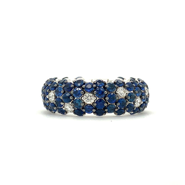 Zydo Italy Sapphire 3.95ctw and Diamonds 0.36ctw Band | Blacy's Vault