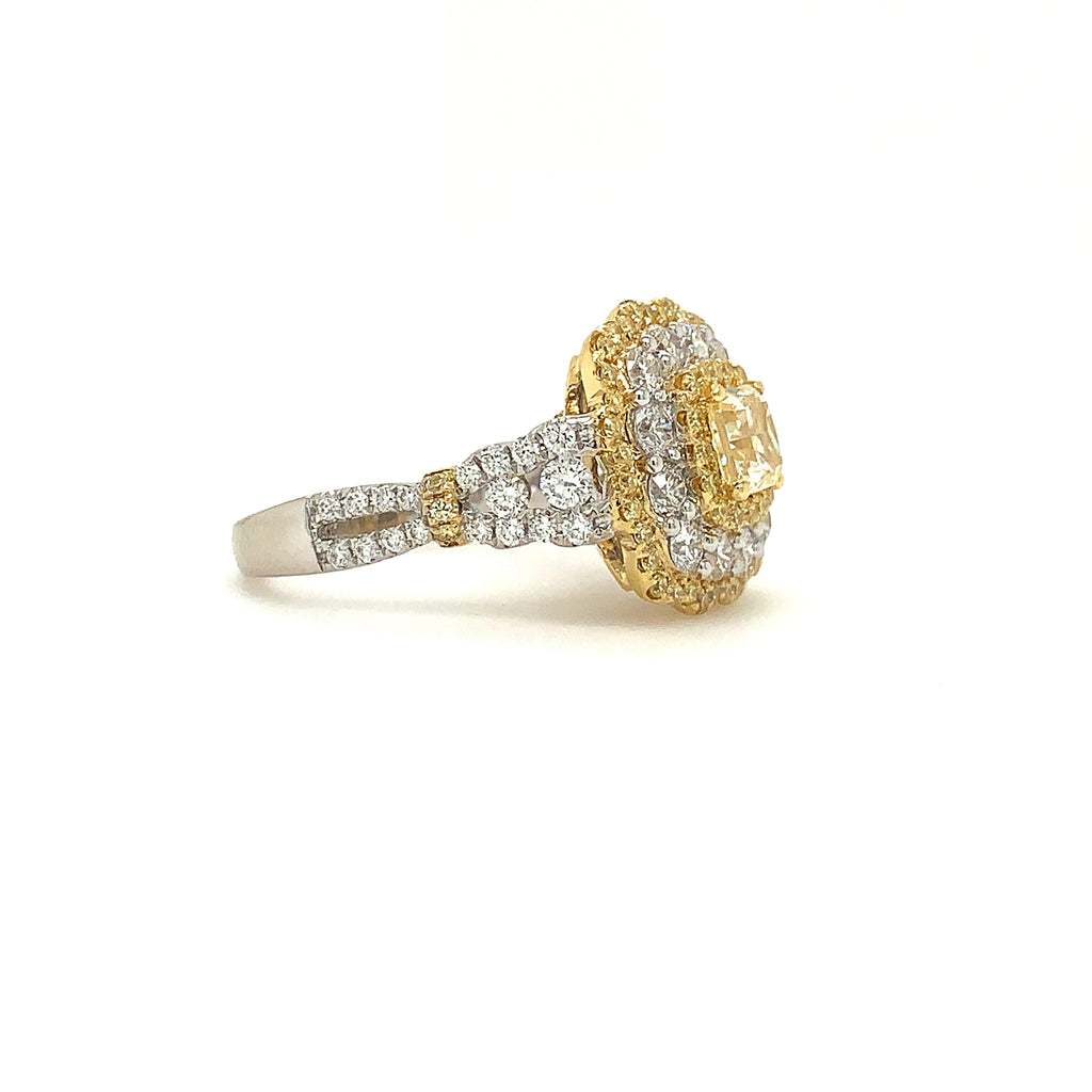 Fancy Pave Set with 1.16 ctw Yellow Diamonds and 1.12ctw White Diamonds | Blacy's Vault