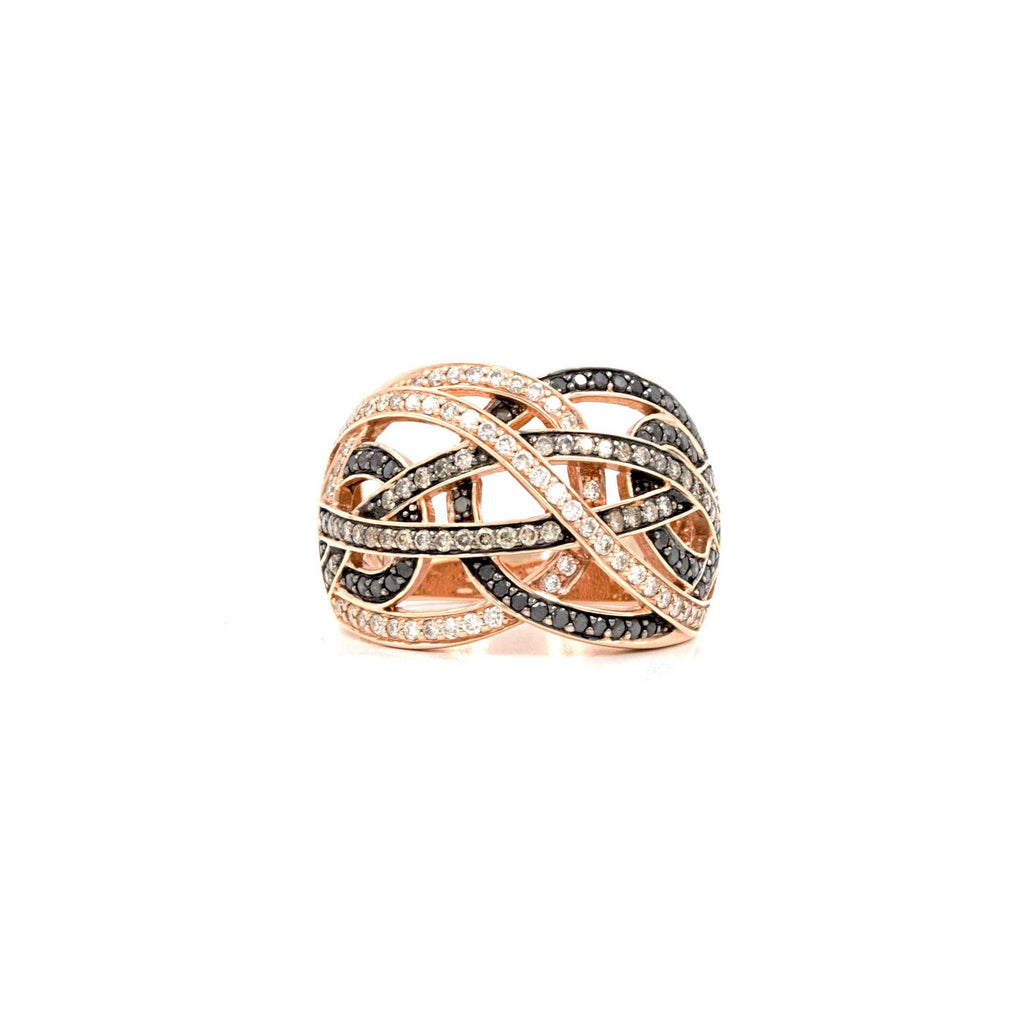 Swirl Black and White Diamond Ring | Blacy's Fine Jewelers