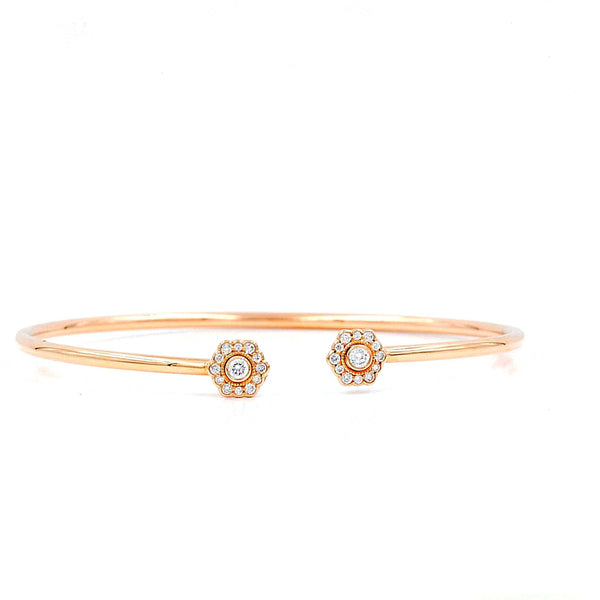 Rose Gold Wire Cuff Diamond Bracelet | Blacy's Fine Jewelers