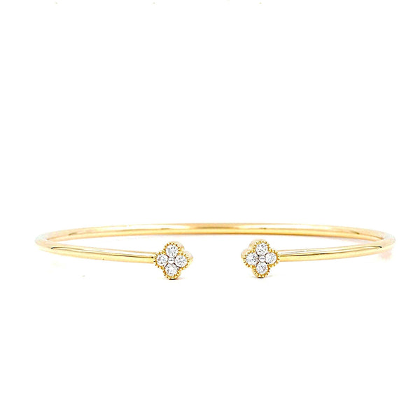 Yellow Gold Wire Diamond Bracelet | Blacy's Fine Jewelers