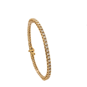 A. Link Classic 4 Prong Diamond Tennis Bracelet 18K Yellow Gold 52 Diamond 4 ctw | Blacy's Fine Jewelers