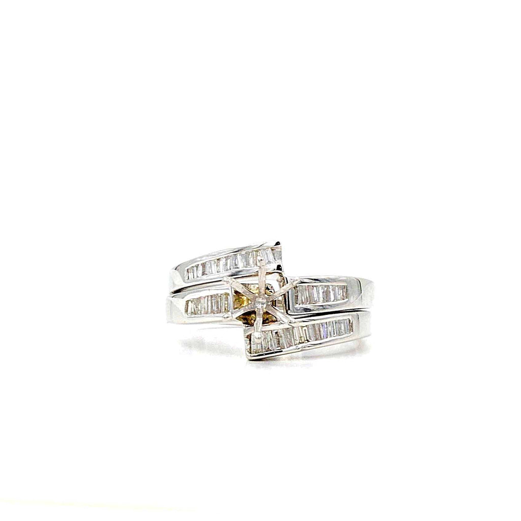 M.K Diamond  Baguette Wedding Set Diamonds Equal .50 ctw Semi Mounting M.K Diamond | Blacy's Fine Jewelers
