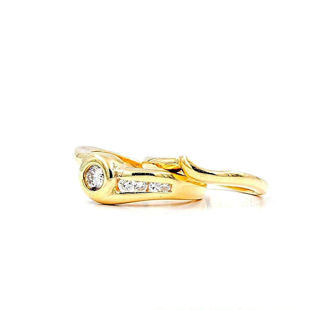 Gold Wedding Set with Band
