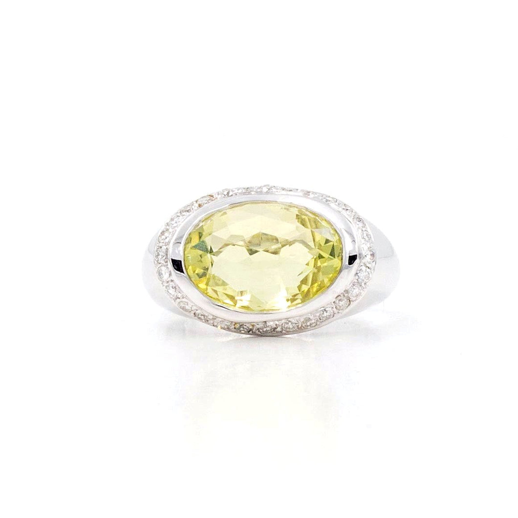 Lime Quartz Ring