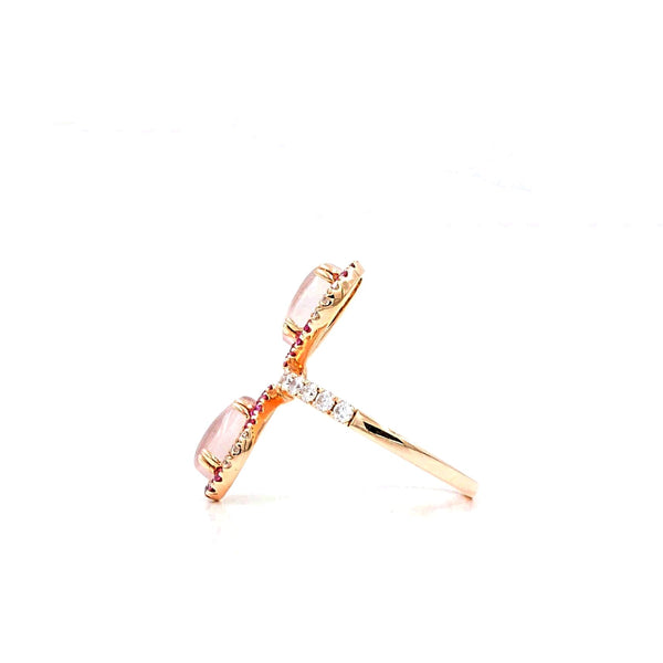 Rose Quartz And Pink Sapphire Ring | Blacy's Fine Jewelers