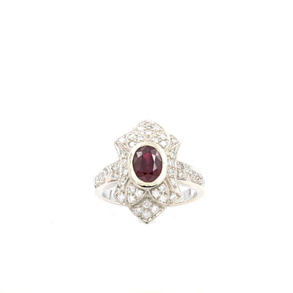 Ruby and White Gold Diamond Ring | Blacy's Fine Jewelers