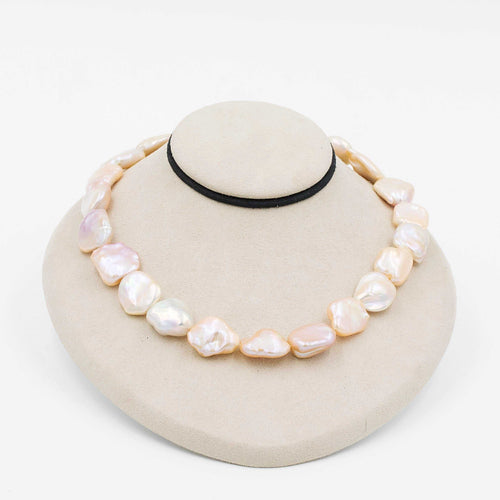 Fresh Water Baroque Pearls 18K Yellow Gold Clasp 16 Inch Necklace | Blacy's Fine Jewelers