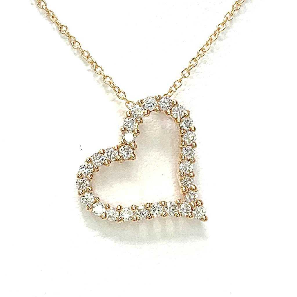 Diamond Side Heart Pendant | Blacy's Fine Jewelers