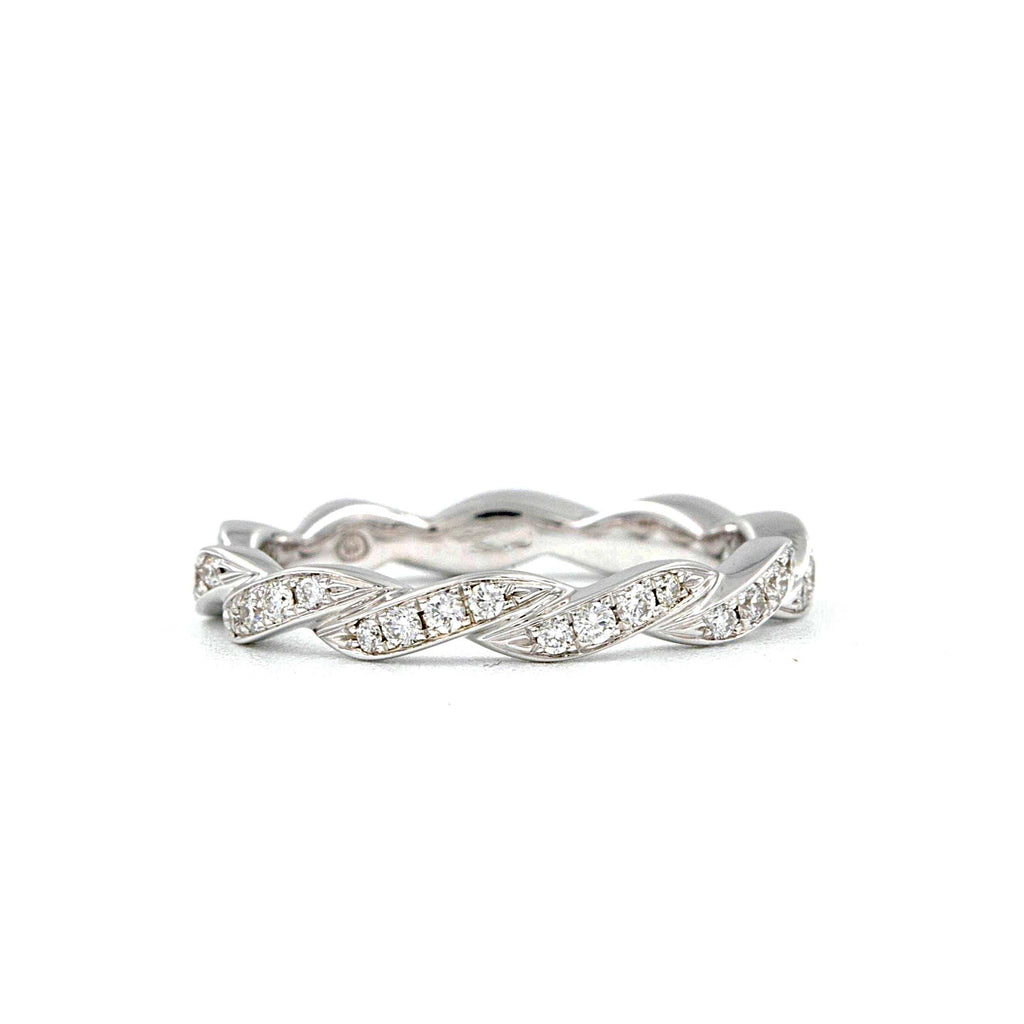 0.37ctw Christopher Designs Twisted Diamond Eternity Band, 18K White Gold | Blacy's Fine Jewelers