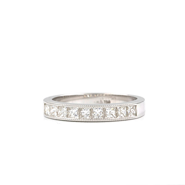 Christopher Designs Princess Cut Diamond Band 0.72ctw 18K White Gold Band | Blacy's Fine Jewelers