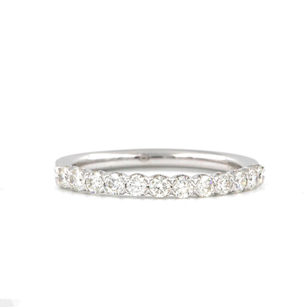 Christopher Designs Diamond Wedding Band, Made with 18K W.G, 8 Diamonds at 0.85t.w. size 6 | Blacy's Fine Jewelers