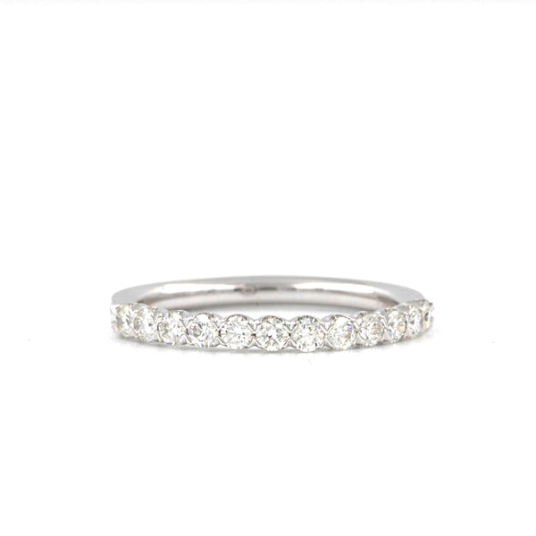 Christopher Designs Diamond Wedding Band, made with 18K W.G. 12 Diamonds 0.51t.w. | Blacy's Fine Jewelers