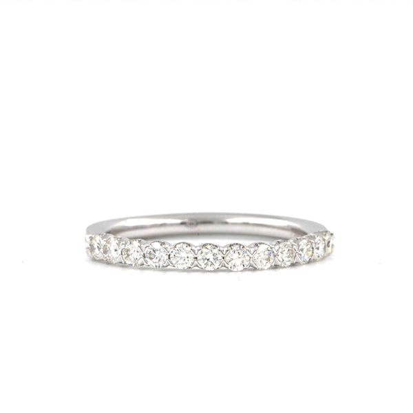 12 Round Diamonds 0.51c.w. Christopher Designs Diamond Wedding Band, 14K W.G. | Blacy's Fine Jewelers