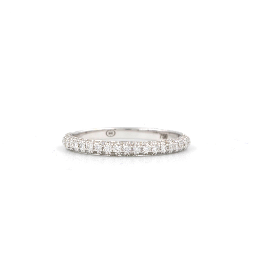 0.56t.w. Christopher Designs Diamond Wedding Band, Made with 18K W.G. | Blacy's Fine Jewelers