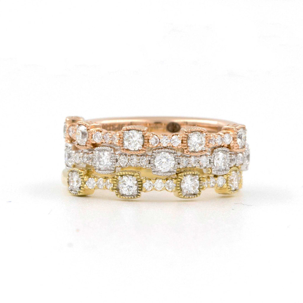 Christopher Designs Stackable Diamond Band 17 Diamonds Equals 0.25ctw 18K Rose Gold | Blacy's Fine Jewelers