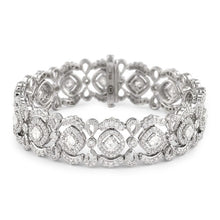 Load image into Gallery viewer, Christopher Designs Crisscut Fancy Diamond Lace Beyaz Bracelet, 18K WG 8.53ctw of Diamonds and 3.13cts of Crisscut Diamonds | Blacy's Fine Jewelers