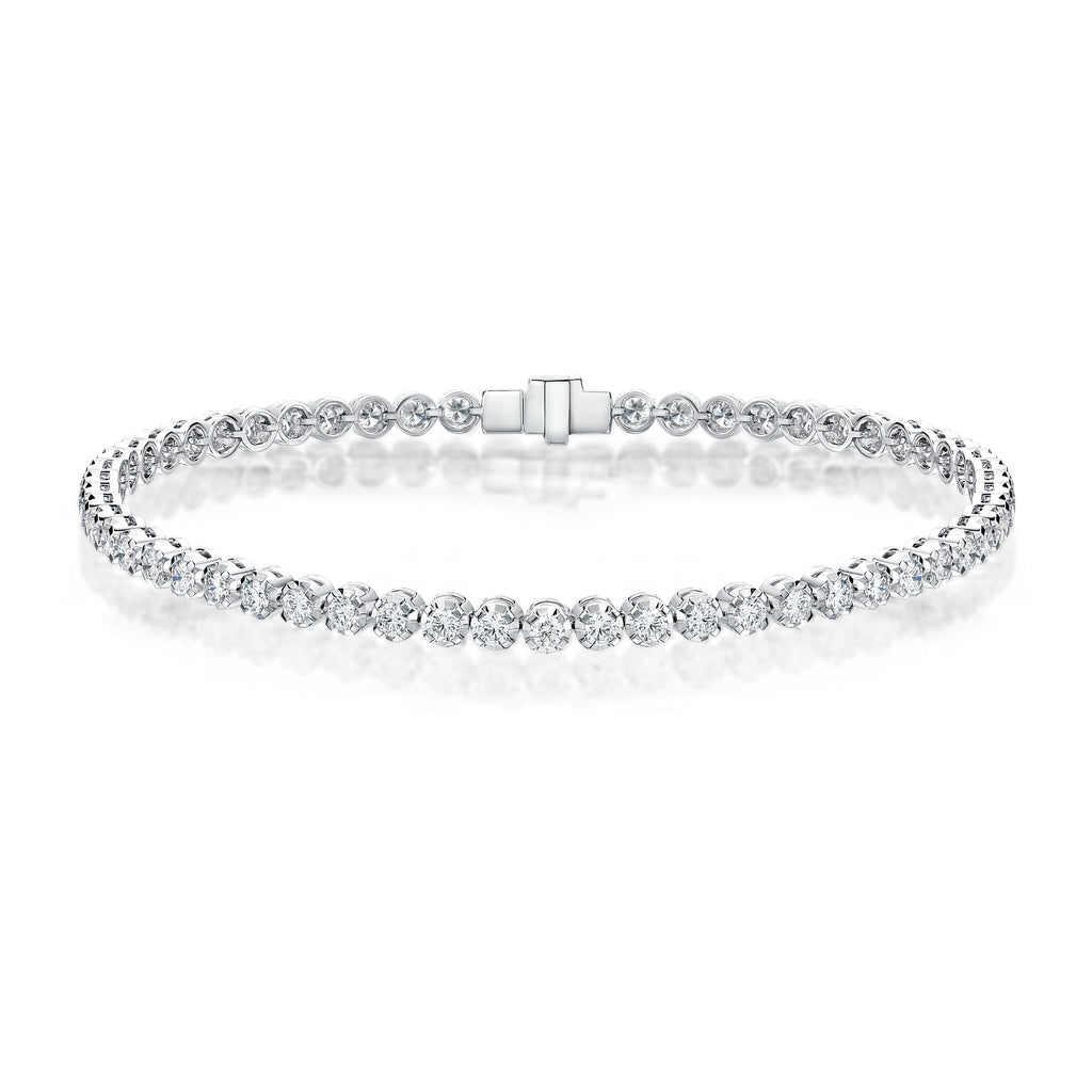 Memoire Gold Faceted 4-prong Tennis Bracelet | Blacy's Fine Jewelers
