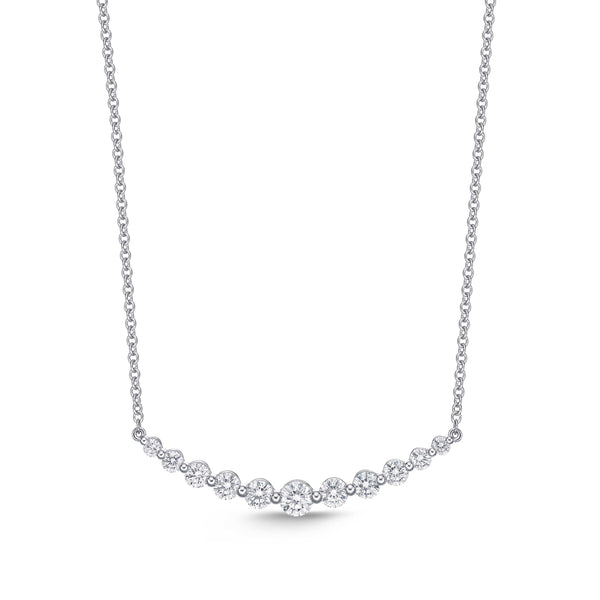 Memoire Diamond Classic Smile Necklace | Blacy's Fine Jewelers