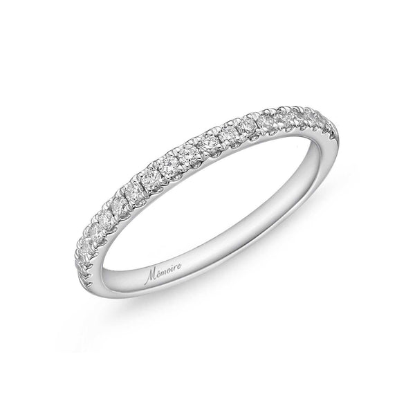 18k White Gold Memoire Margarita Collection Diamond Band 0.17ctw | Blacy's Fine Jewelers