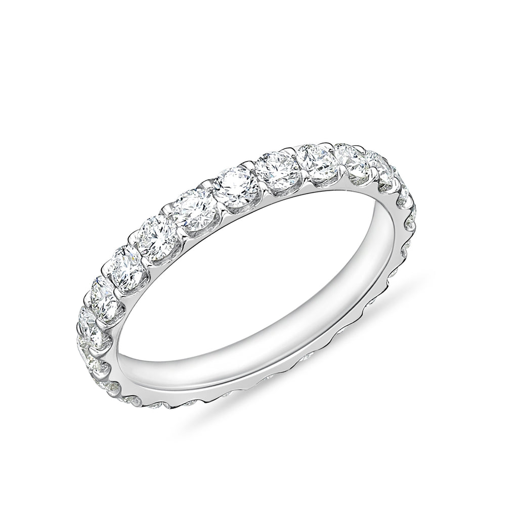 Memoire Odessa Eternity Wedding Band 18K White Gold 24 Round Brilliant Diamonds equals to 1.48 ctw. | Blacy's Fine Jewelers