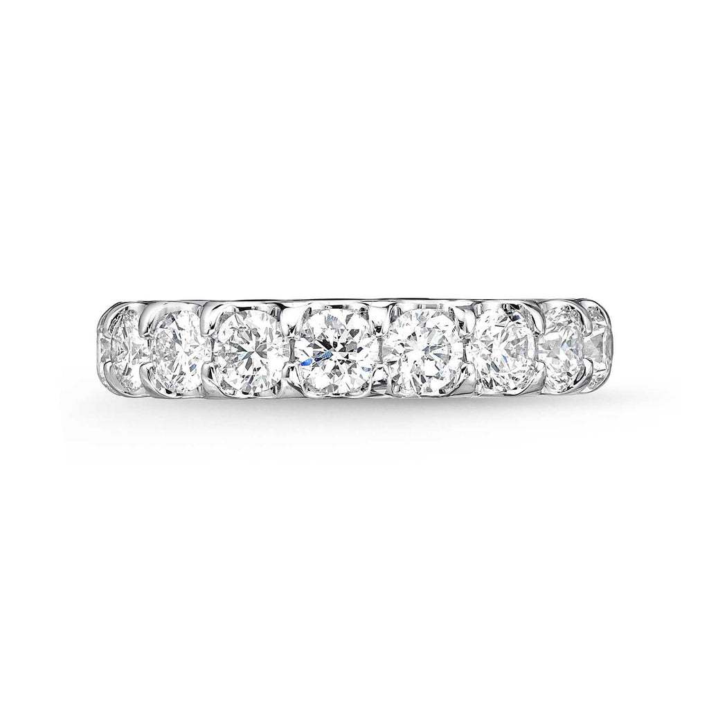 Memoire Odessa Half Eternity Diamond Platinum Band 9 Brilliant Round Diamonds equals to 1.53 ctw | Blacy's Fine Jewelers