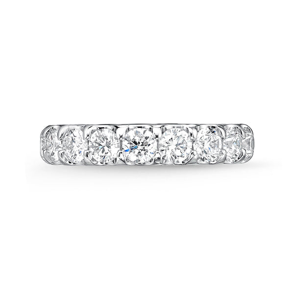 Memoire Odessa Eternity Band Platinum Round Brilliant Diamonds equals to 3.14ctw | Blacy's Vault