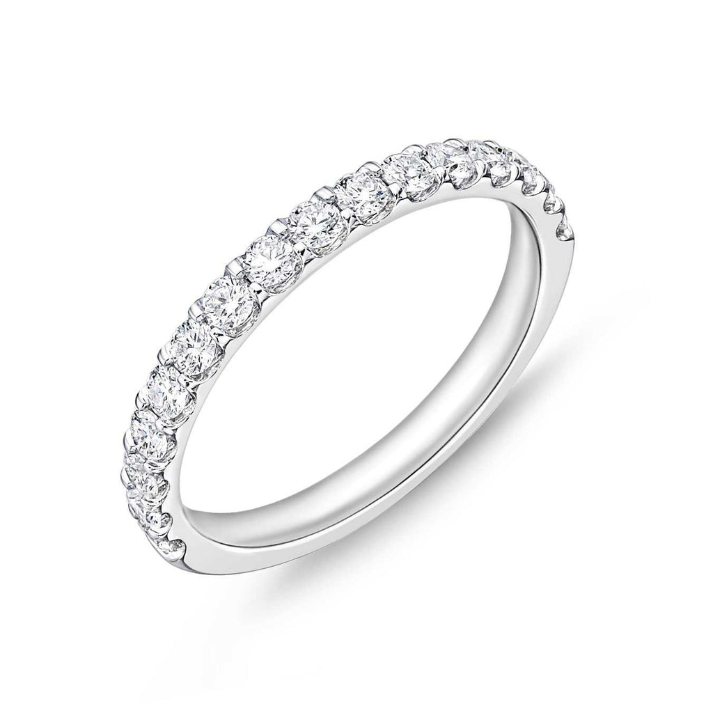 Memoire Half Eternity Diamond Odessa Band Platinum 11 Round Brilliant Diamonds equals to .78 ctw | Blacy's Fine Jewelers