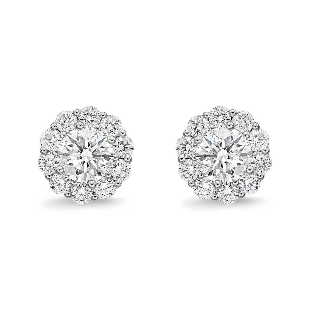 Memoire Blossom Collection Diamond Earrings