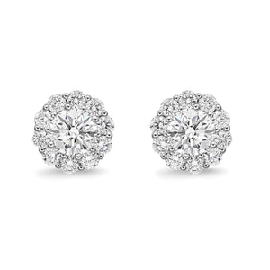 Memoire 18K White Gold Blossom Collection Diamond Earrings 0.49 ctw | Blacy's Fine Jewelers