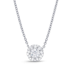 Memoire Diamond Bouquets No- Prong Necklace | Blacy's Vault