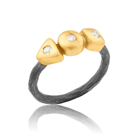 Lika Behar 24K Oxidized Diamond Geometry Ring | Blacy's Fine Jewelers