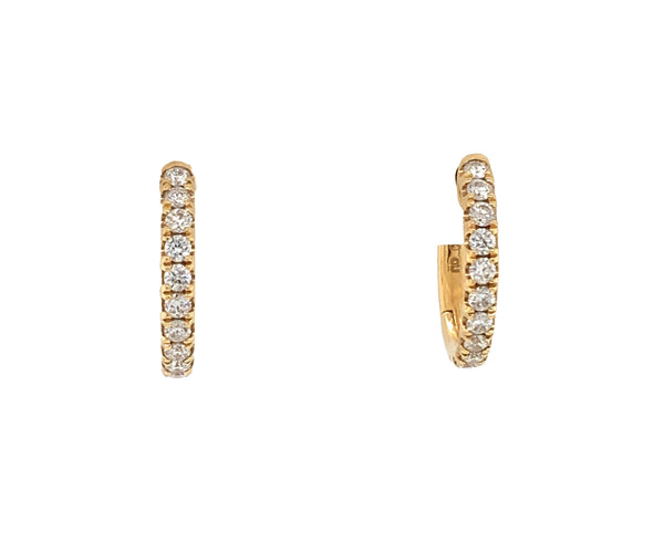 Diamond Huggie Earring 18K Yellow Gold 0.29 cts