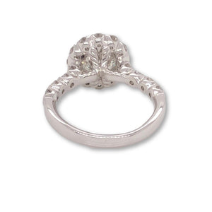 Christopher Designs Diamond Ring Round Halo, Center Stone 1.51ct, EGL Certified | Blacys Fine Jewelers, Inc.