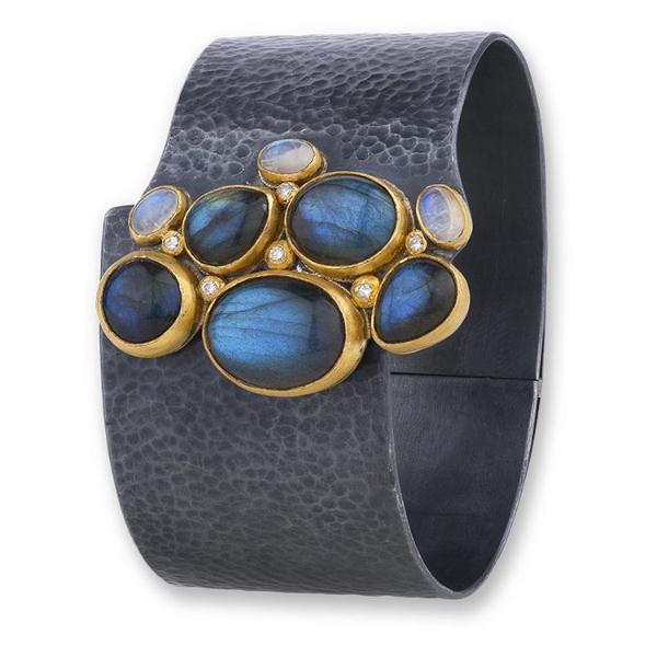 Lika Behar 24K Oxidized Silver Labradorite Cuff | Blacy's Fine Jewelers