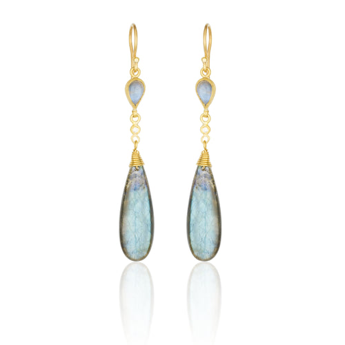 Lika Behar Collection Moonlight Sonata Drop Earrings | Blacy's Vault