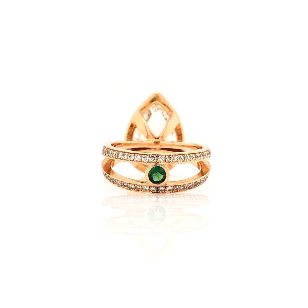 One of a Kind 5.01ct Pear Shape Diamond Ring 18 karat Rose Gold | Blacy's Fine Jewelers