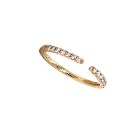 Open Round Brilliant Cut Diamond Stackable Band 0.25 ctw 14K Yellow Gold | Blacy's Fine Jewelers Blacys Vault