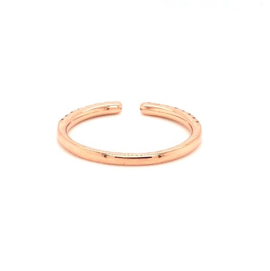 Open Round Brilliant Cut Diamond Stackable Band 0.25 ctw 14K Rose Gold | Blacy's Fine Jewelers Blacys Vault