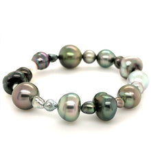 Load image into Gallery viewer, 11.3mm Cultured South Sea and Keshi Pearl Bracelet on Stretchable Band | Blacy's Fine Jewelers
