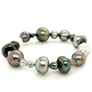 11.3mm Cultured South Sea and Keshi Pearl Bracelet on Stretchable Band | Blacy's Fine Jewelers