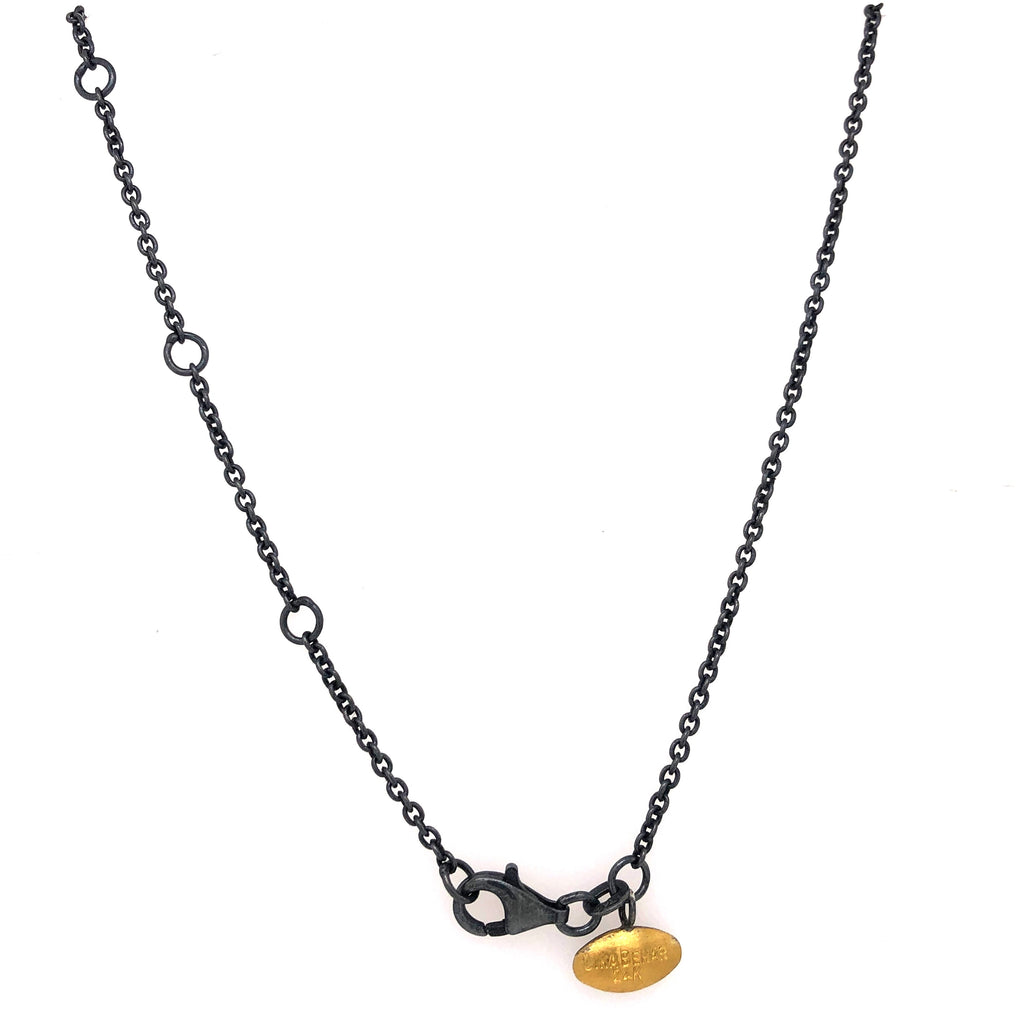 Lika Behar Dylan Bar Necklace 24K Yellow Gold and Oxidized Silver | Blacy's Fine Jewelers