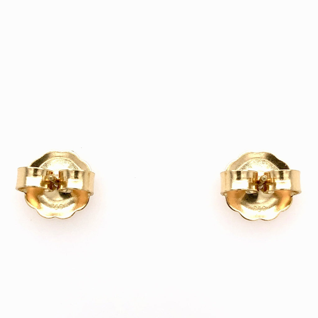 Lika Behar Dylan 24k Gold and Oxidized Silver Small Stud Earrings 6mm with Diamonds 0.10 ctw 18k Gold Posts and Backings | Blacy's Vault